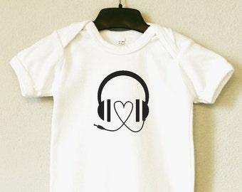 "Baby Body, Bodysuite ""Headphones"""
