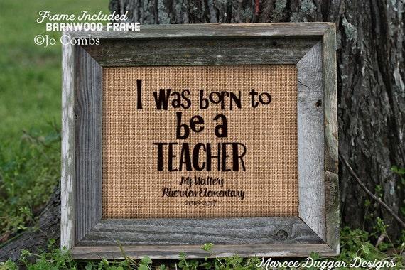 Framed Teacher Gift | Teacher Christmas Gift | Teacher End of Year Gift | Personalized Teacher Gift | Burlap Print | 162