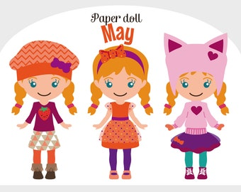 Printable Paper doll cute May