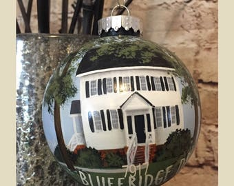New Home Ornament//Custom House Portrait Ornament //Personalized  House ornament//Housewarming Gift// Realtor Closing Gift