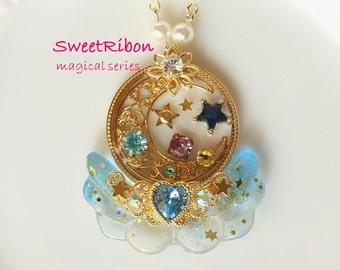 Lolita Fairy kei Kawaii Girly Harajyuku Magical girl Mahou-kei wing necklace