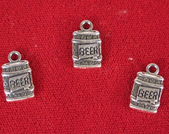 "BULK! 15pc ""Beer"" charms in antique silver style (BC1233B)"