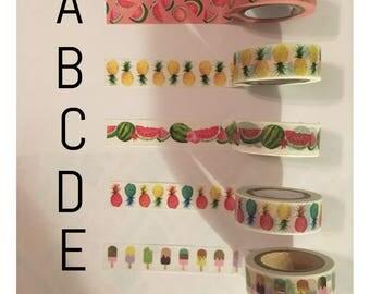 Washi tape sample: food #7
