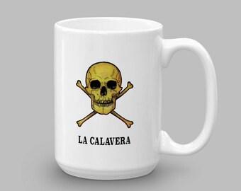 La Calavera Mug - Loteria Print Mug - Mexican Loteria Mug - Occult Mug - Occult Coffee Mug