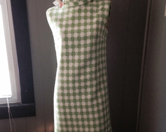 60's mid mod a line dress