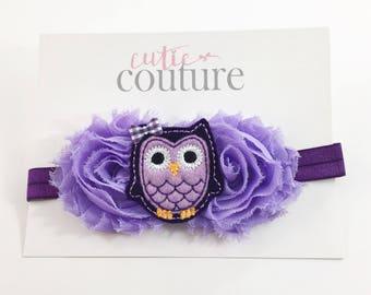 Lavender Owl Headband, Purple Headband, Owl Headband, Lavender Headband, Purple Owl Headband, Baby Headband, Birthday Headband, Owl Birthday