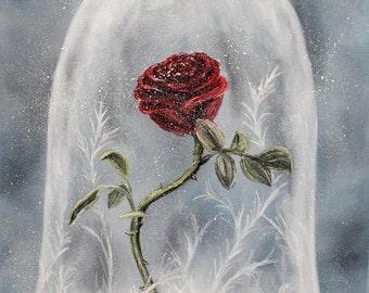 "Print of ""Enchanted Rose of Hope"""