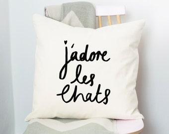 J'adore Les Chats Cushion