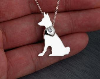 Basenji dog Handcrafted sterling silver necklace