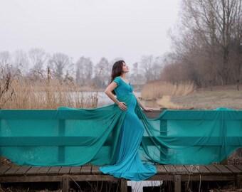 Valerian Dress l Off-Shoulder + Short Sleeves + Sweetheart Top l Maternity Dress l Maternity Photoshoot