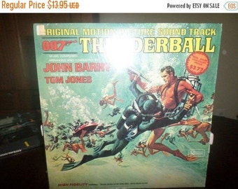 Save 30% Today Vintage 1965 Vinyl LP Record 007 Thunderball Original Motion Picture Sound Track Excellent Condition 6064