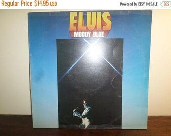 Save 30% Today Vintage 1977 LP Record Moody Blue Elvis Presley RCA Records Excellent Condition UK Import 10832