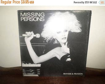 Save 30% Today Vintage 1987 Vinyl LP Record Rhyme & Reason Missing Persons Near Mint Condition In Shrink 4318
