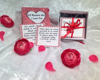 52 Reasons why I Love You ~ Valentine, Wife, Husband, Handmade, Quotes.