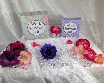 Work Survival Kit - New job, Leaving job, Job Promotion, Handmade gift