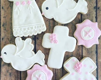 Baptism/ communion/ christeninng  sugar cookies