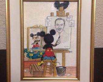 Mickey Paints Walt Disney