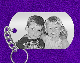 Mothers Day Gift, Laser Engraved Photo Keychain, Kids Picture, PERFECT GIFT! or for Grandma