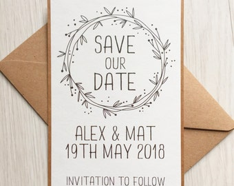 Save the date cards - Rustic save the date cards