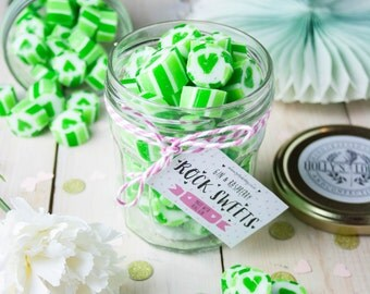 Boozy Raspberry Gin Rock Sweets Jar - Gift for Her - Party Favour - Food Gift - Foodie - Wedding Favour - Valentines - Sweets - Hen Do