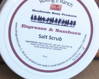 Coffee Body Scrub Salt Scrub Dead Sea Salt Exfoliating Scrub Essential Oils Scrub Hand Made Body Product Skin Care Bath Mothers Day gift