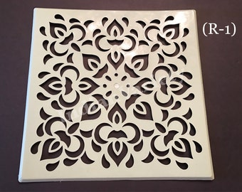 "Good Quality 12"" Re-Usable Plastic Rangoli Stencil/Art/Pooja/Festival/Floor/Decoration/Kolam/Chapa"