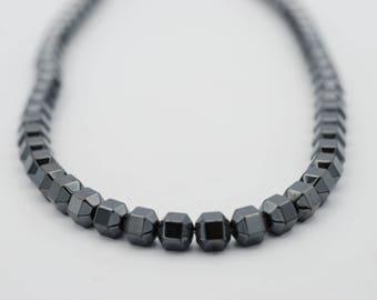 "6x6mm, 6x4mm Hexagon Shape Non Magnetic Bead, 15"" long"