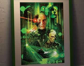 Star Trek TNG  Nemesis Borg A3 Poster