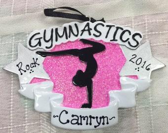 Personalized Gymnastics Christmas ornament