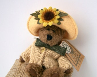 Boyd's Bears Flora Mae Bloom With Joy Sunflower Archive Collection