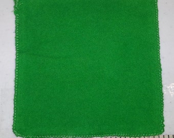 Green Polishing Cloths for Montessori Primary class