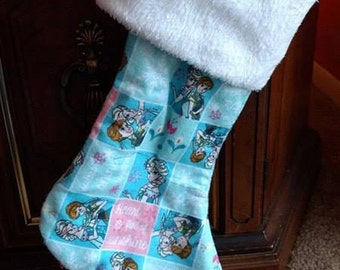 Frozen Princess lined stocking