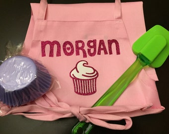 Personalized Kids Apron for GIRLS Medium