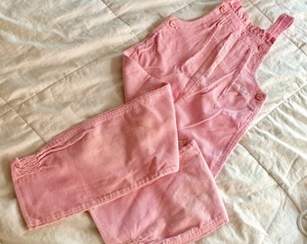 1984 IZod (R) for girls Lacoste (R) Corduroy Overalls (Girls 5) Pink