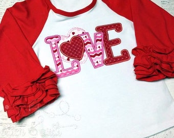 Girls Valentines Day Outfit, Baby Valentines Day Outfit, Valentine Baby, Toddler Valentine, Valentine shirt, Ruffle outfit for Valentine