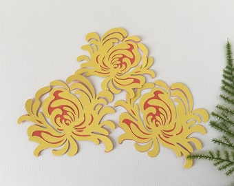 Yellow Mum Embellishments