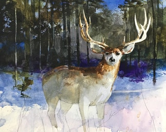 Set of 3 paintings published in Montana Outdoors