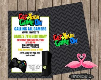 Gamer Birthday Invitation (digital & card stock)