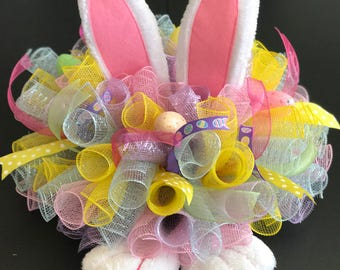Easter Centerpiece with Bunny Ears and Bunny Feet for Easter FAST SHIPPING