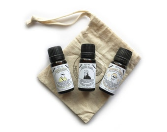 Merry Band Vintage Shave Oils | 3 x 10ml | Gents Grooming | 100% Natural