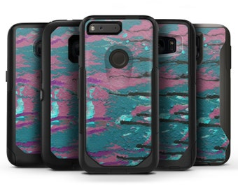 Abstract Retro Pink Wet Paint - OtterBox Case Skin-Kit for the iPhone, Galaxy & More