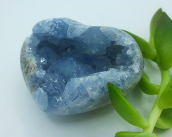 Blue Celestite Heart Clusters