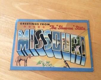 Vintage Missouri Postcard Folio