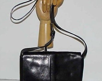 FRANCESCO BIASIA Classic Black Leather Handbag Dressy or Day