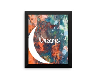 Dreams Instant Download. Abstract Painting. Printable Art. Moon Dreams. Nursery Wall. Wall Decor. Inspirational Gift. Abstract Art.