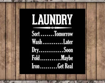 Laundry room sign, laundry room decor, wash room decor, custom wood sign, laundry humor, sayings on wood, painted wood sign, wall hangings.