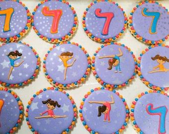 Dance cookies Gymnastics cookies 1 Dozen sugar cookies