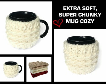 Mug Cozy, Mug Cosy, Super Chunky, Christmas Gift, Gift Idea, Tea Cozy, Handmade Mug Cosy, Knitted Mug Cosy, Coffee Cosy, Gift Idea,