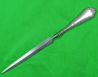 Antique Old US Sterling Silver Letter Opener. Silver Knife. Antique Knife. Silver Antiques. Unique Gift. Gift for Him. US Silver.