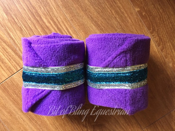 4 Polo Wraps with Custom Double Layer Glitter Ribbon